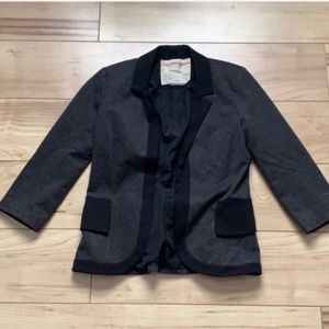 Cartonnier / Anthropologie black and gray blazer